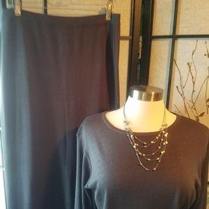 Grey Tunic with fringe, sz L, 203